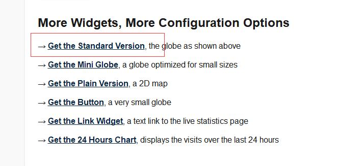 WordPress – 利用Revolvermaps在首页实时显示访客3D地球-StubbornHuang Blog