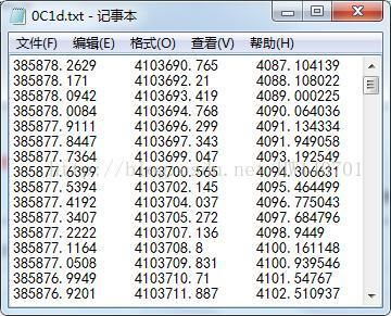 VTK读取一个TXT文档中的三维点坐标显示三维点云