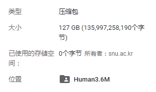 human3.6m : Download(数据集下载)