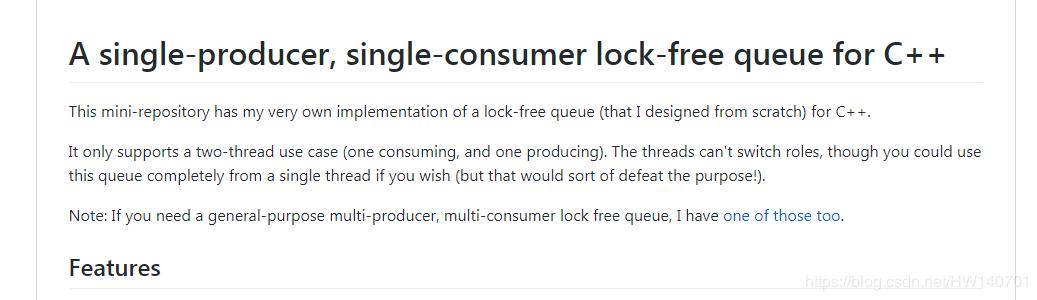 C++11 – 基于无锁队列的单生产者单消费者模型
