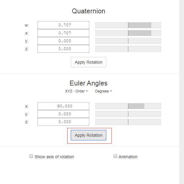 工具网站推荐 – 欧拉角四元数在线可视化转化网站/三维在线旋转变换网站